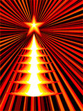 Christmas tree. Ext-USSR style, vector without gradient Royalty Free Stock Images