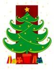Christmas tree. Christmas card illustration vector illustration