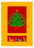 Christmas tree. Christmas card illustration Stock Photos