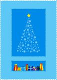 Christmas tree. Christmas card illustration Stock Images