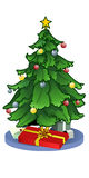 Christmas Tree. With presents stock illustration