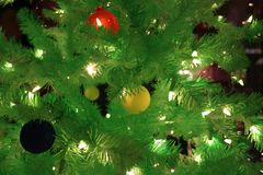 Christmas Tree. Window Decoration Royalty Free Stock Images