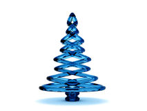Christmas tree 3d. Rendering. Isolated on white background Royalty Free Stock Photo