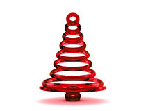 Christmas tree 3d. Rendering. Isolated on white background Stock Photo