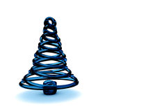 Christmas tree 3d. Rendering. Isolated on white background Royalty Free Stock Photography