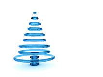 Christmas tree 3d. Rendering. Isolated on white background Stock Image