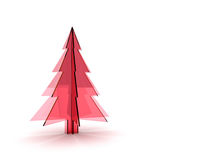 Christmas tree 3d. Rendering. Isolated on white background Stock Photography