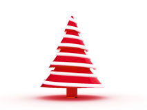 Christmas tree 3d. Rendering. Isolated on white background Royalty Free Stock Image