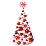 Christmas Tree 3D Icone-2. An Abstract 3D Christmas Tree Royalty Free Stock Images
