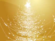 Christmas tree. Sparkly christmas tree, abstract graphic design illlustration Stock Image