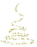 Christmas tree. Champagne bubbles in the shape of a christmas tree Royalty Free Stock Photo