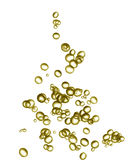 Christmas tree. Champagne bubbles in the shape of a christmas tree Stock Image
