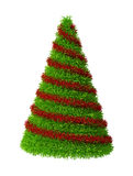 Christmas Tree. Isolated 3d render of green-red Christmas Tree Stock Photos