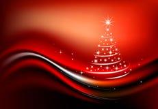Christmas tree. Christmas greeting card or a poster Stock Image