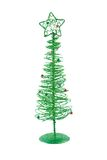 Christmas Tree. Wire christmas tree on a white background Royalty Free Stock Photography