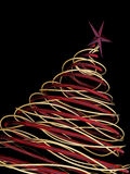 Christmas tree. A computer generated image of a modern christmas tree stock illustration