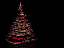 Christmas tree. A computer generated image of a modern christmas tree vector illustration