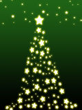 Christmas tree. Decorative christmas tree on green background Royalty Free Stock Photo