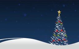 Christmas tree. Vector illustration of a christmas tree Stock Image