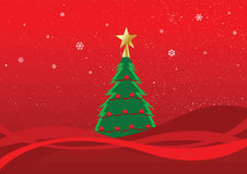 Christmas tree. Vector illustration of a christmas tree Royalty Free Stock Photo