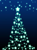 Christmas tree. Decorative christmas tree on green background Royalty Free Stock Photos