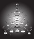 Christmas Tree. Vector abstract illustration Stock Images