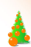Christmas tree. With orange glass balls Royalty Free Stock Photography