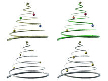 Christmas tree. 3D render of a Christmas tree isolated white Stock Photos