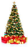 Christmas Tree. And Gifts. Over white background Royalty Free Stock Photos