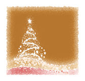 Christmas tree. Abstract red christmas tree made of stars and stardust Stock Images