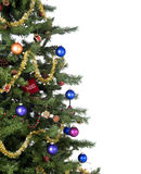Christmas Tree. An isolated Christmas tree ready for Santa Stock Photography