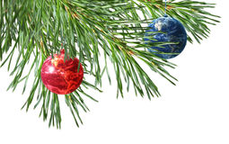 Christmas tree. Christmas decoration on white background Stock Image