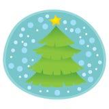 Christmas Tree. Christmas Season Tree Vector Illustration Royalty Free Stock Photography