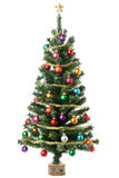 Christmas tree. Isolated on white stock photo