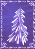 Christmas tree. Vector backgroud with christmas tree Stock Photography