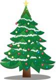 Christmas tree. An illustration of a Christmas Tree Stock Photography