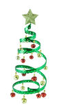 Christmas Tree. Spiral Christmas tree isolated on white Royalty Free Stock Images
