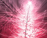 Christmas tree. Festive christmas tree season holiday abstract illustration Stock Photography