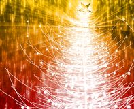 Christmas tree. Festive christmas tree season holiday abstract illustration Stock Photo