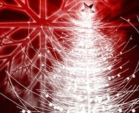 Christmas tree. Festive christmas tree season holiday abstract illustration Stock Images