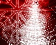 Christmas tree. Festive christmas tree season holiday abstract illustration Stock Images