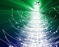 Christmas tree. Festive christmas tree seasonl holiday abstract illustration Royalty Free Stock Photo