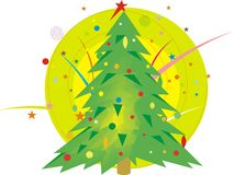 Christmas tree. Illustration created in illustrator Stock Photo