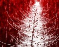 Christmas tree. Festive christmas tree seasonl holiday abstract illustration Stock Photography