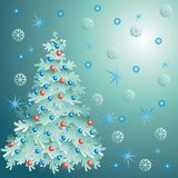 Christmas tree. New year. Decoration Stock Photo