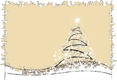 Christmas tree. Abstract christmas tree made of stars and stardust Royalty Free Stock Image