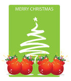 Christmas tree. With star and decorations Royalty Free Stock Photos