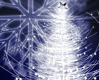 Christmas tree. Festive christmas tree seasonal holiday abstract illustration Royalty Free Stock Photography