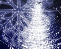 Christmas tree. Festive christmas tree seasonal holiday abstract illustration Royalty Free Stock Photography