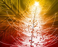 Christmas tree. Festive christmas tree seasona l holiday abstract illustration Stock Photography